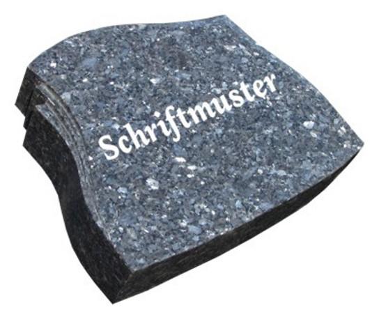 Vorschau Geschwungener Grabstein aus Granit Blue Pearl