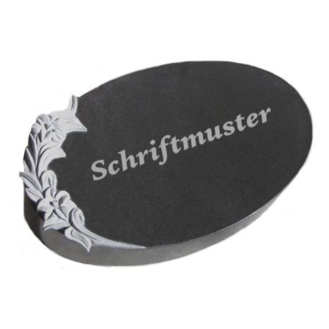 Vorschau Ovale Form mit Blumenornament
