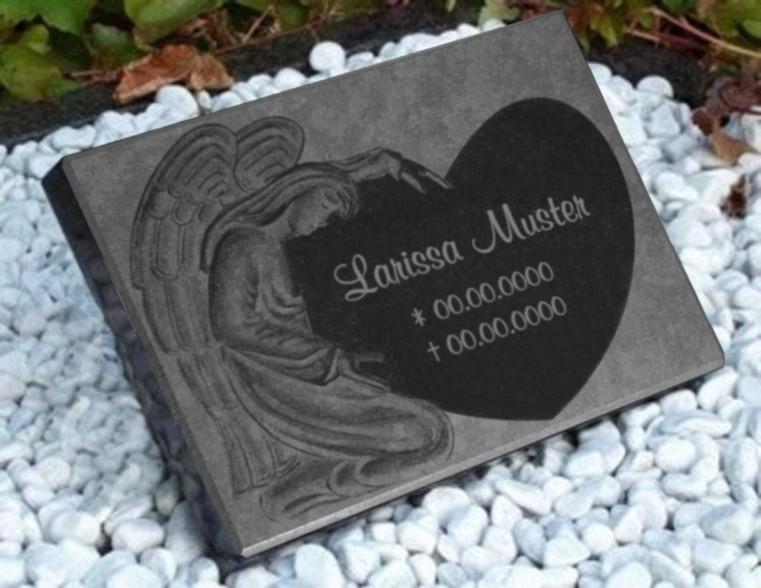 Vorschau Grabmal mit sehr schöner Engelsgravur