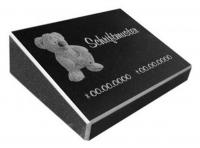 Vorschau Kindergrabstein aus poliertem Granit mit Teddybär