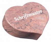 Vorschau Herzgrabstein aus massiven Granit Multicolor Red
