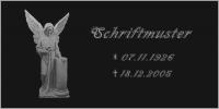 Vorschau Schriftplatte S3 aus poliertem Granit
